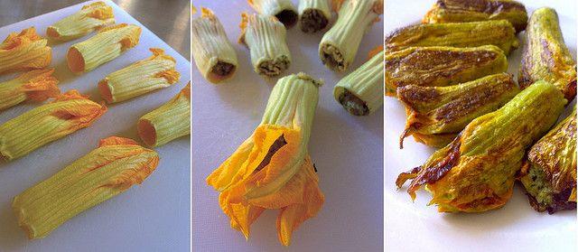 Итальянское блюдо — цветки тыквы во фритюре