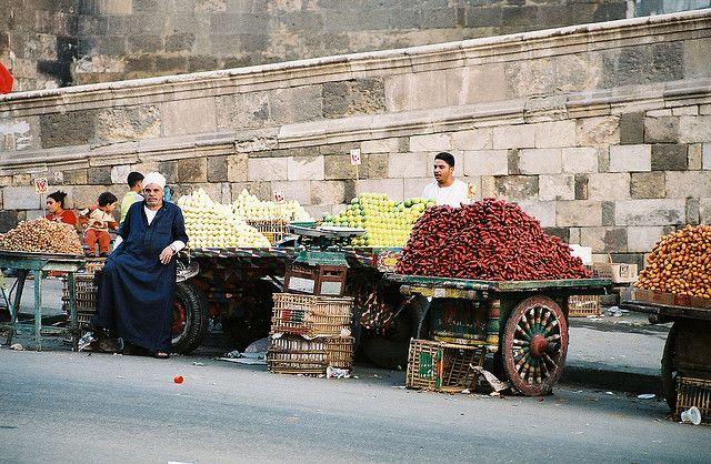 Продавцы еды в Египте