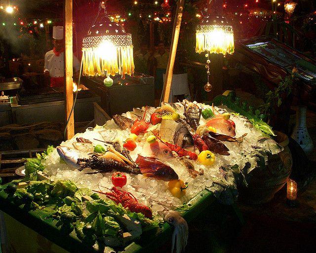 Рыбный ресторан в Египте