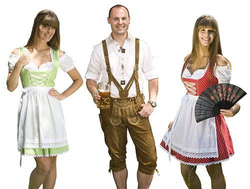 Национальные Баварские костюмы — Dirndl и Lederhose