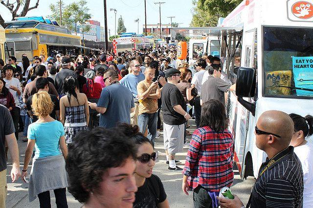 Фестиваль уличной еды в Лос Анджелесе