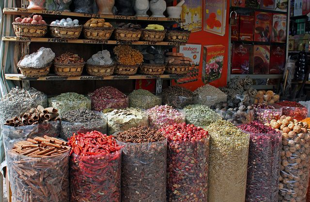 Специи на базаре в ОАЭ