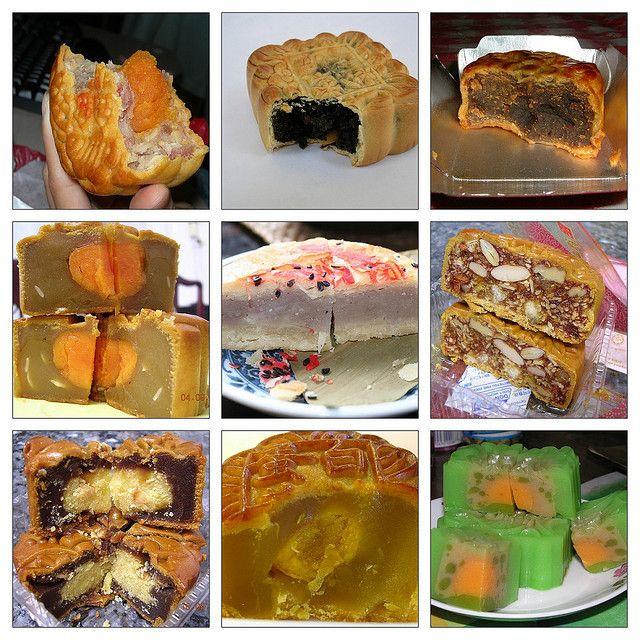 Лунные пряники (Mooncakes) с различными начинками