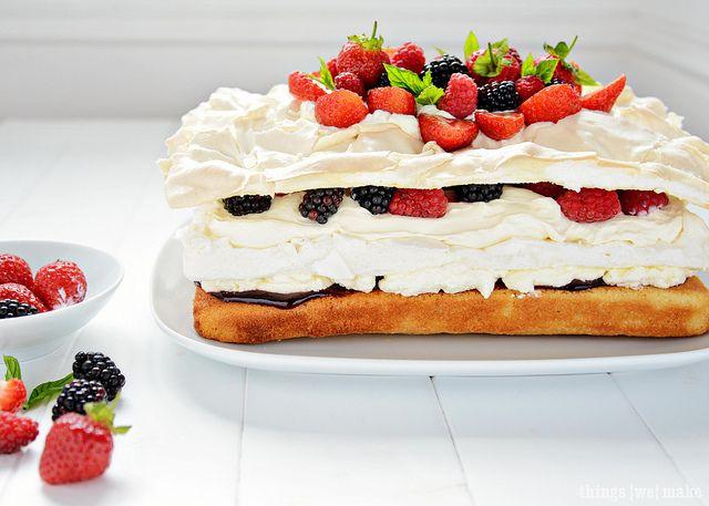 """Воздушный торт """"Павлова"""""""