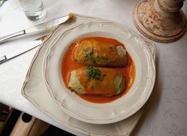 Польское блюдо — голубцы (gołąbki)