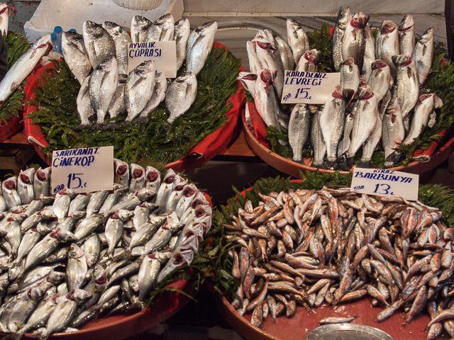 Стамбульский рыбный рынок