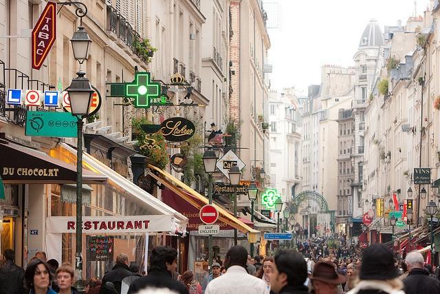Рынок Rue Montorgueil в Париже