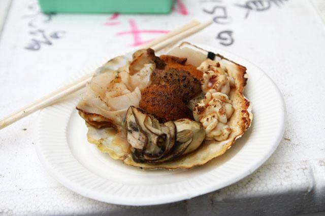 Морепродукты. Уличная еда